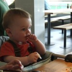 We recognise that highchair... The Nome in Wagamama, a favourite of BLW babies everywhere