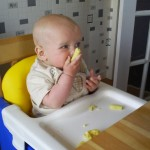 The WeeMan likes his baby sweetcorn