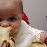 One week into baby led weaning and another banana hits the dust